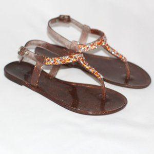 Girls Glittery Plastic Sandals